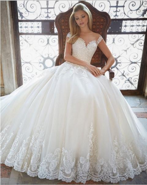 Bridal-Gown-font-b-Ball-b-font-Gown-Lace-Princess-Wedding-Dresses-Sexy-Vintage-font-b